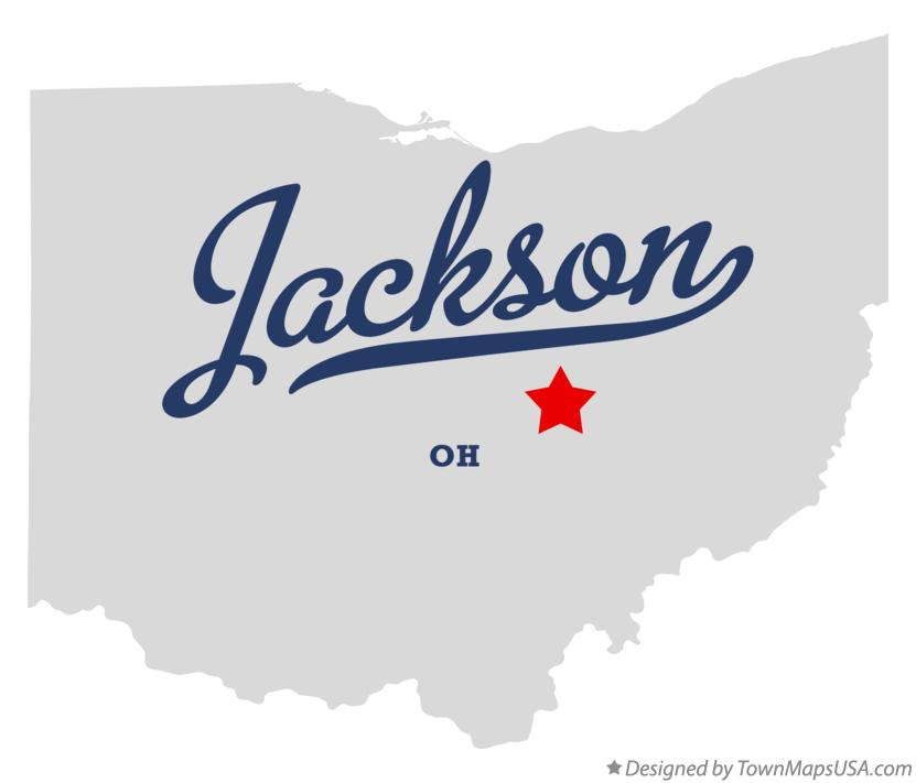 Jackson (OH) United States  city pictures gallery : Map of Jackson, Muskingum County, OH, Ohio