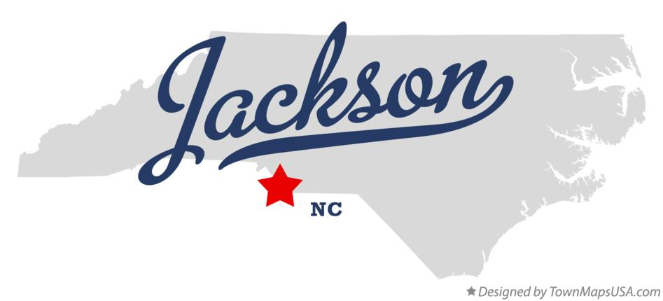 Map of Jackson North Carolina NC