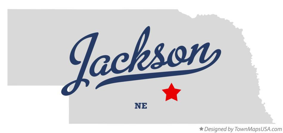 Map of Jackson Nebraska NE