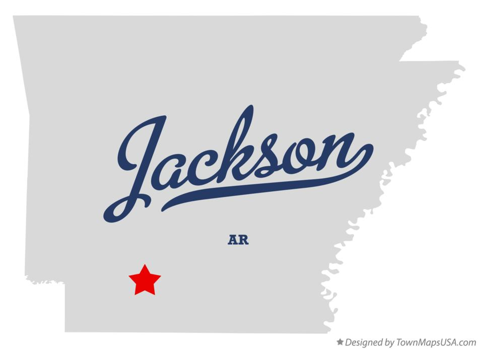 Map of Jackson Arkansas AR