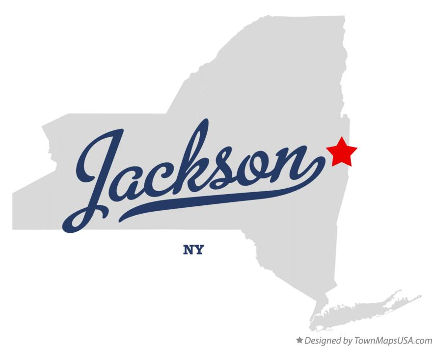 Map of Jackson New York NY