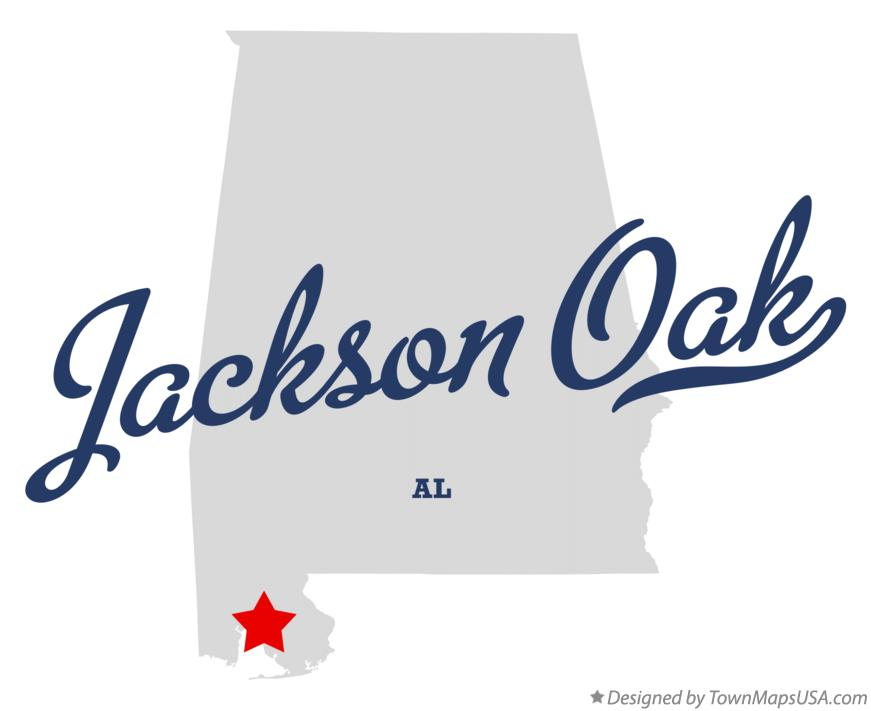 Map of Jackson Oak Alabama AL