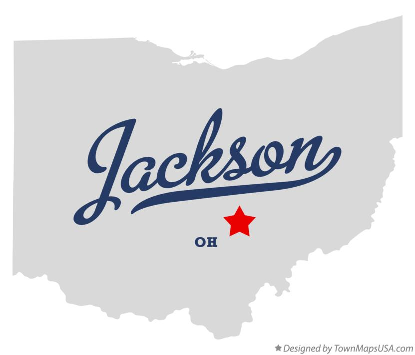 Map of Jackson Ohio OH