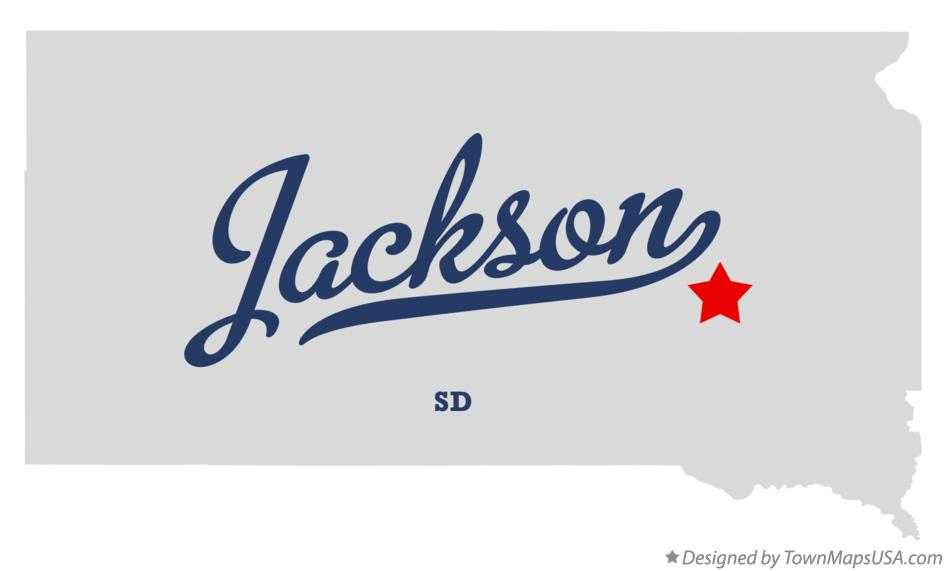 Map of Jackson South Dakota SD