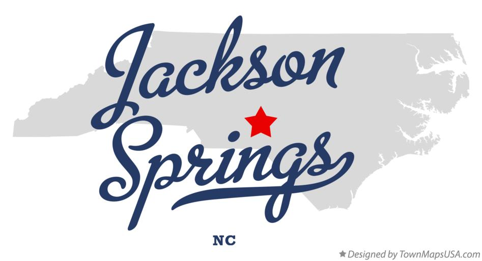 Map of Jackson Springs North Carolina NC
