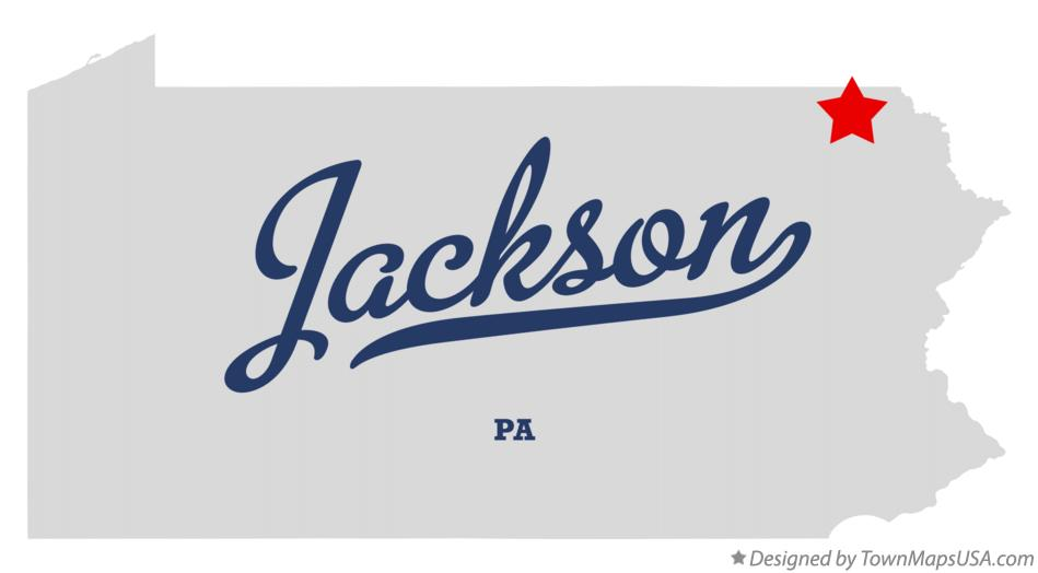 Map of Jackson Pennsylvania PA