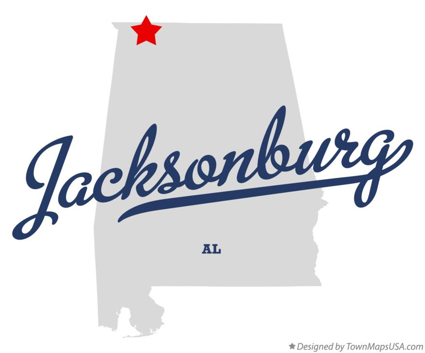 Map of Jacksonburg Alabama AL