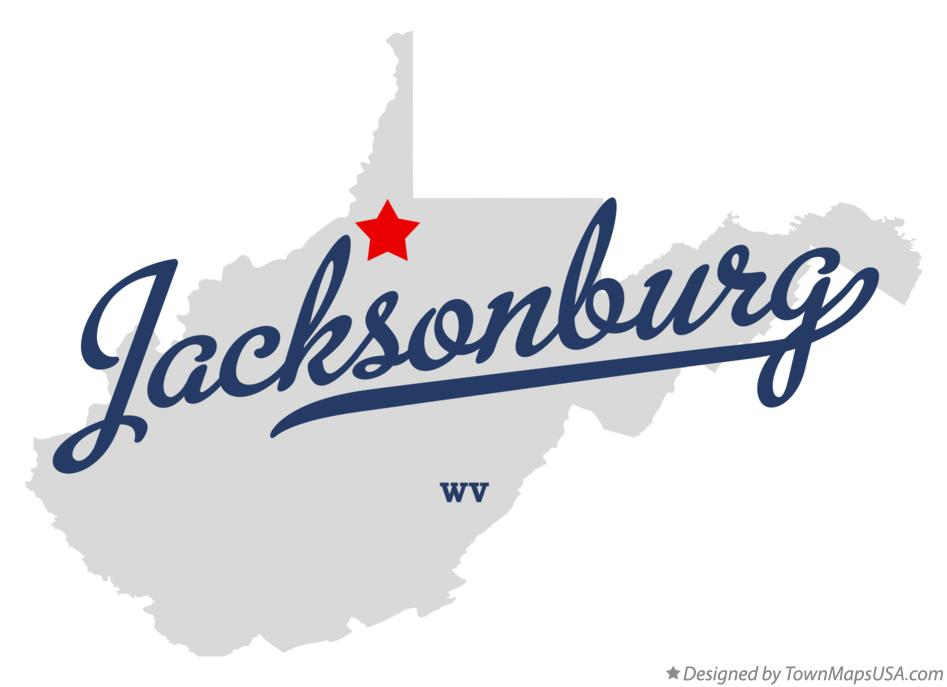 Map of Jacksonburg West Virginia WV