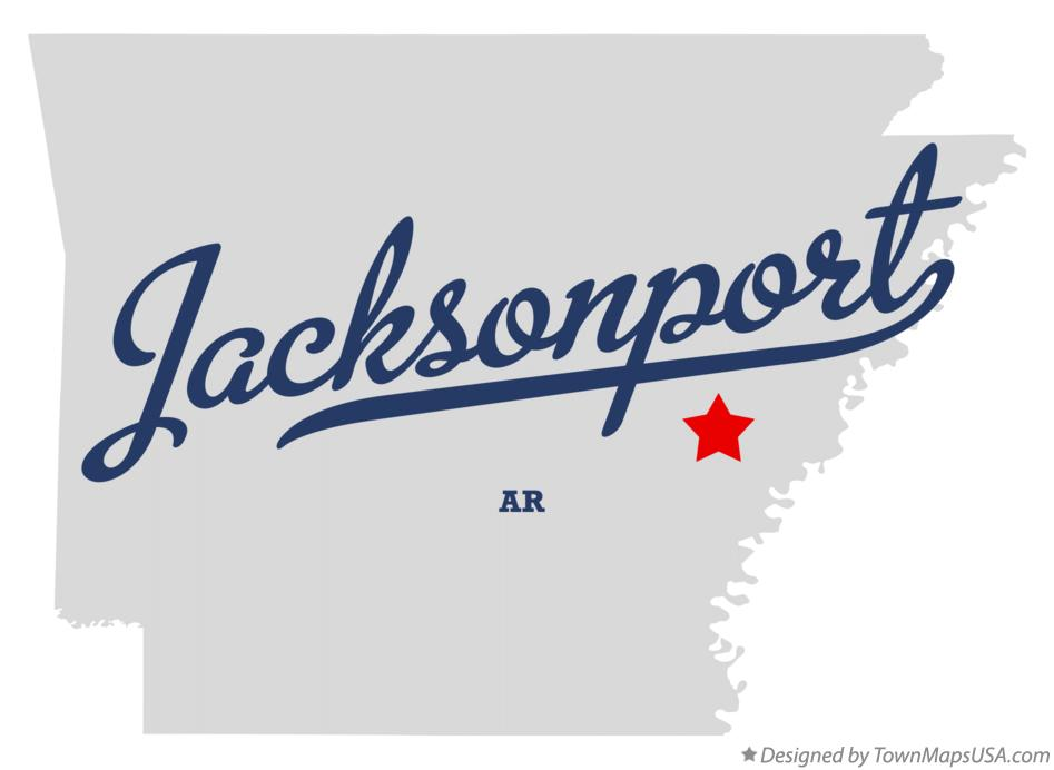 Map of Jacksonport Arkansas AR
