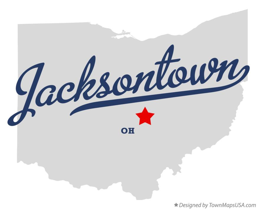 Map of Jacksontown Ohio OH