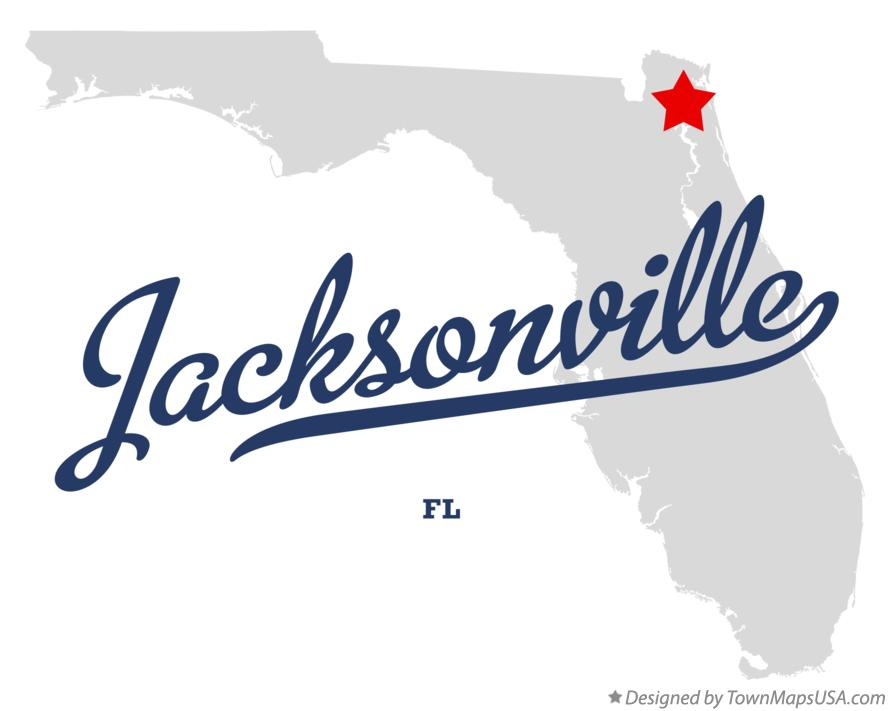 Map of Jacksonville, FL, Florida