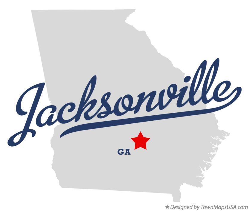 Map Of Jacksonville Georgia.Map Of Jacksonville Telfair County Ga Georgia