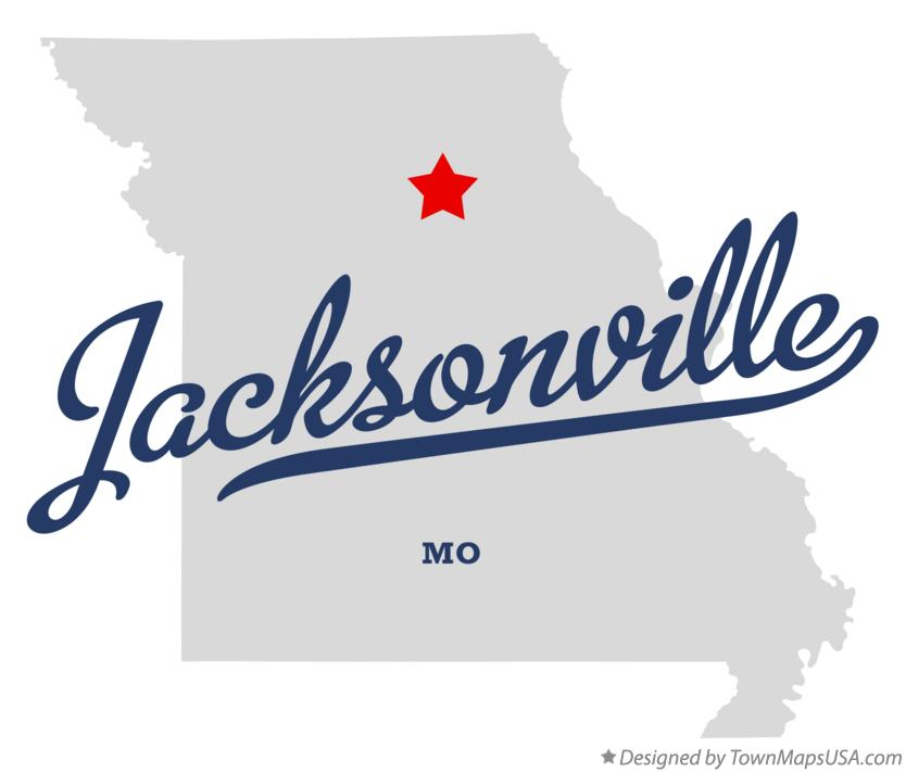 Map of Jacksonville Missouri MO