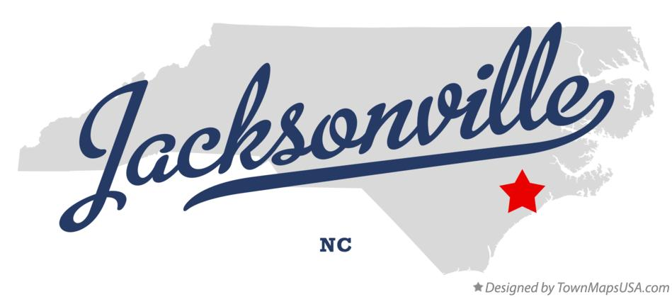 Map Of Jacksonville Nc North Carolina