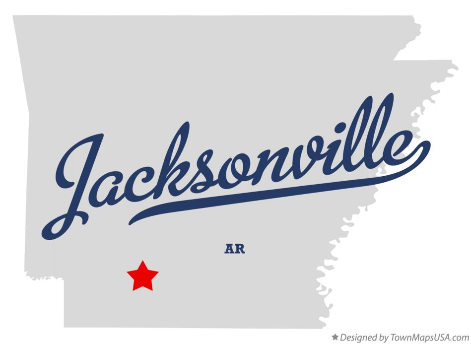 Map of Jacksonville Arkansas AR