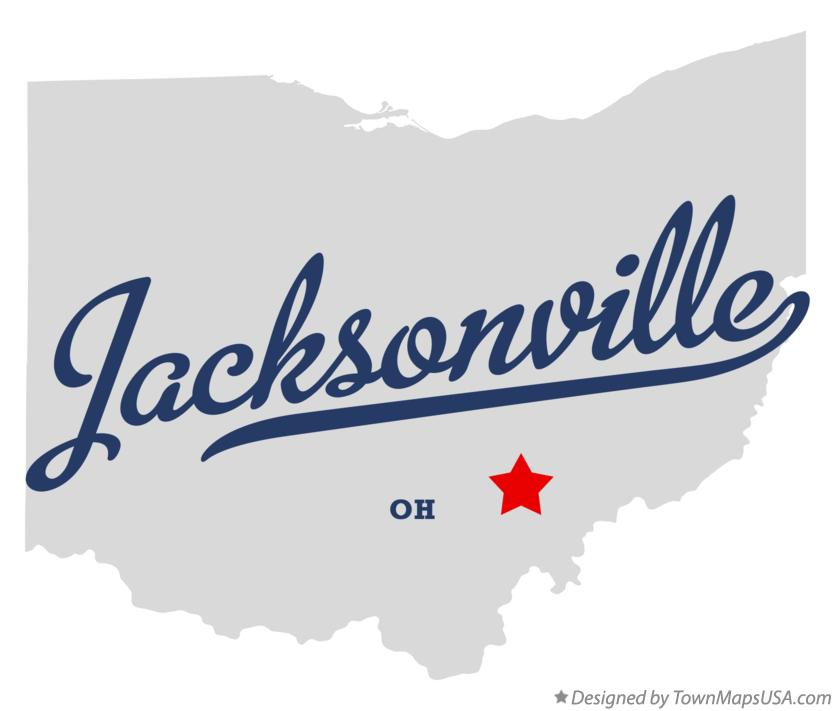 Map of Jacksonville Ohio OH