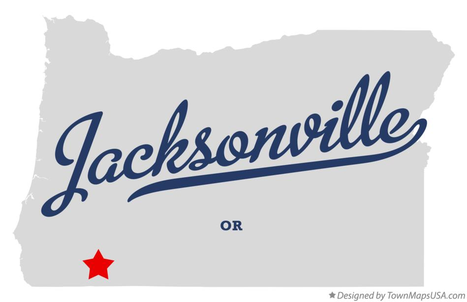 Map of Jacksonville Oregon OR