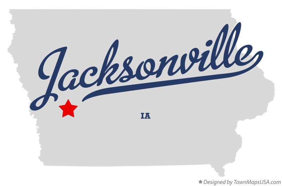 Map of Jacksonville Iowa IA