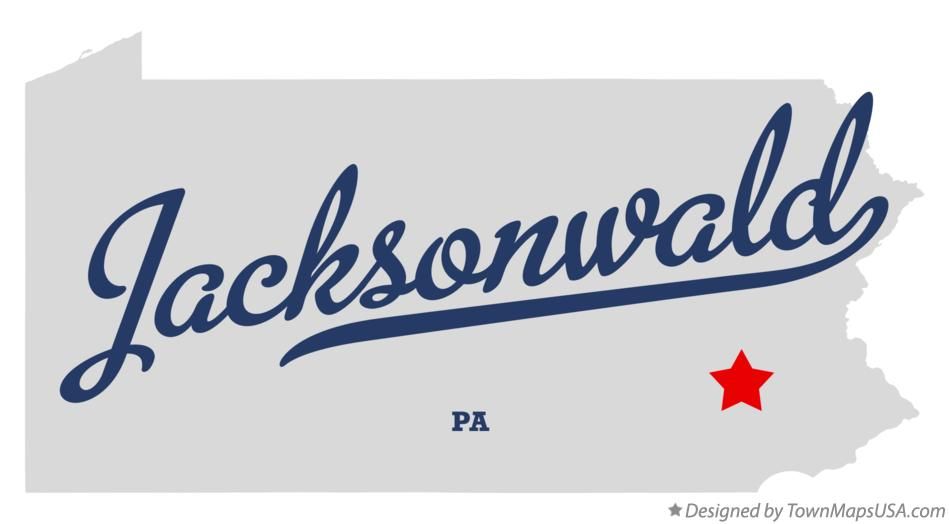 Map of Jacksonwald Pennsylvania PA