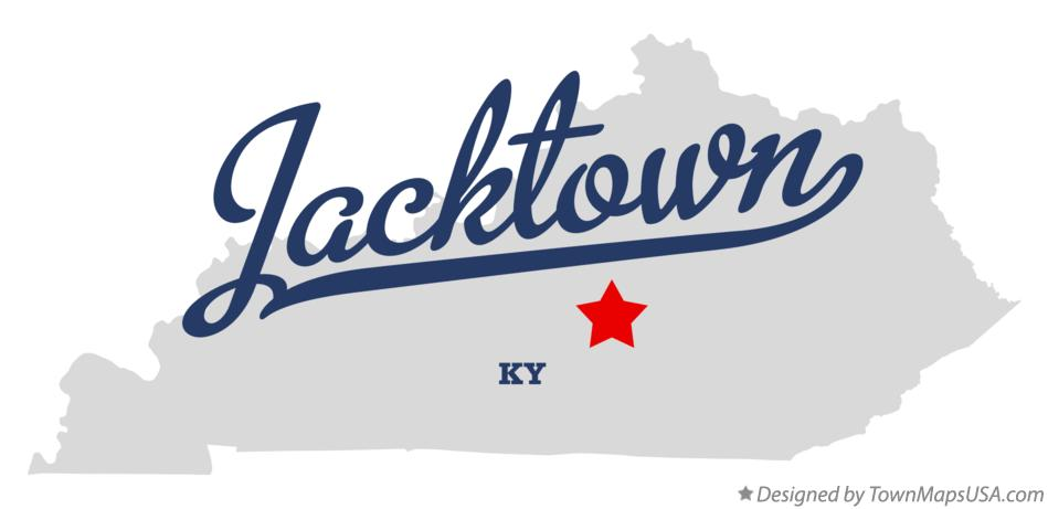 Map of Jacktown Kentucky KY