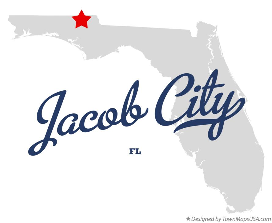Map of Jacob City Florida FL