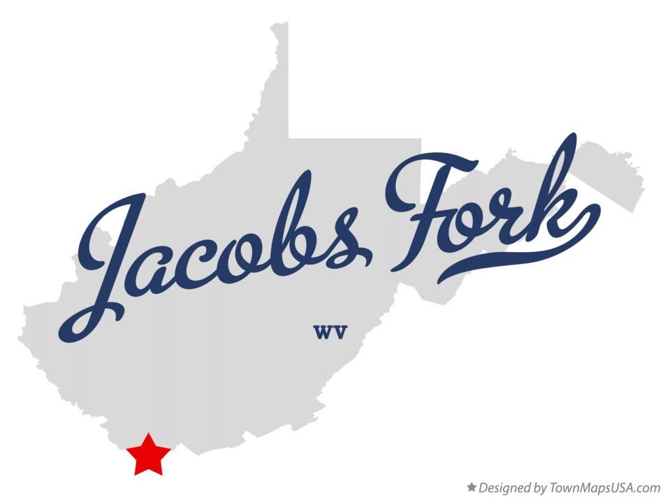 Map of Jacobs Fork West Virginia WV