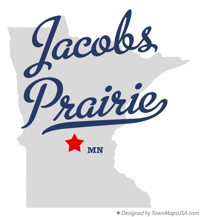 Map of Jacobs Prairie Minnesota MN