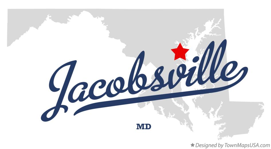 Map of Jacobsville Maryland MD