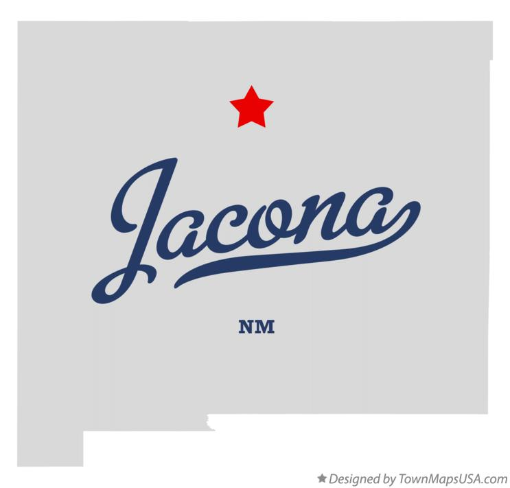 Map of Jacona New Mexico NM