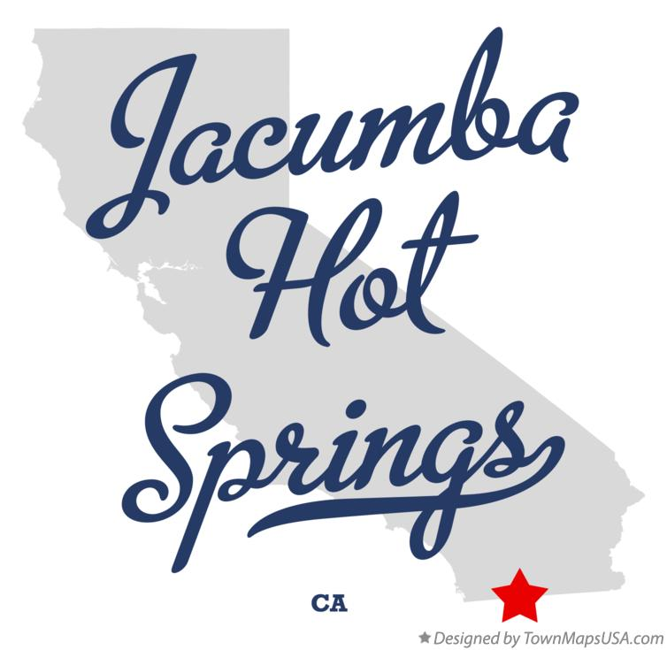 Map of Jacumba Hot Springs California CA