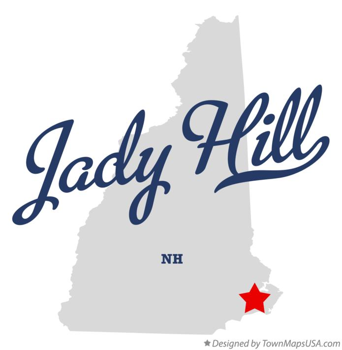 Map of Jady Hill New Hampshire NH