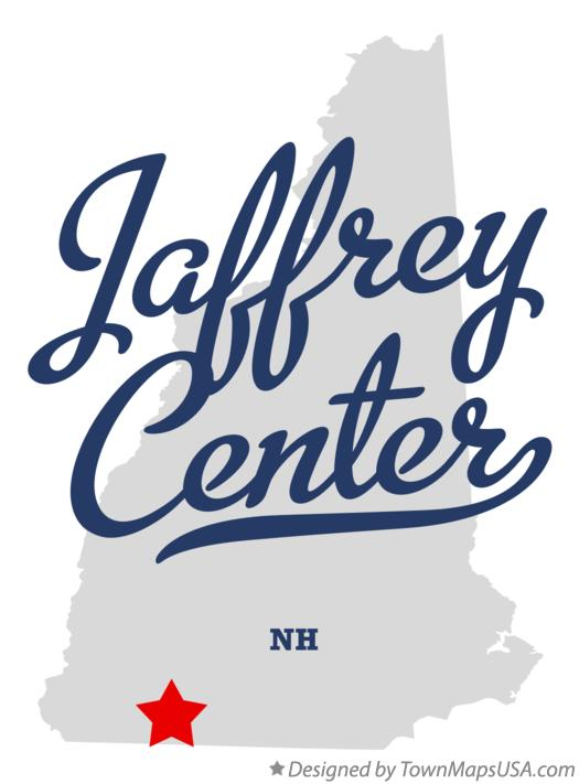 Map of Jaffrey Center New Hampshire NH