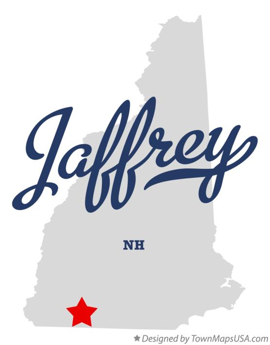 Map of Jaffrey New Hampshire NH