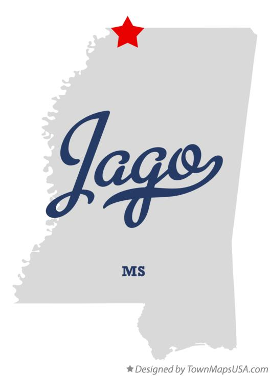 Map of Jago Mississippi MS
