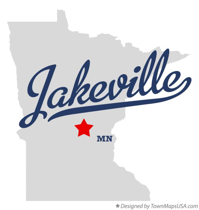 Map of Jakeville Minnesota MN