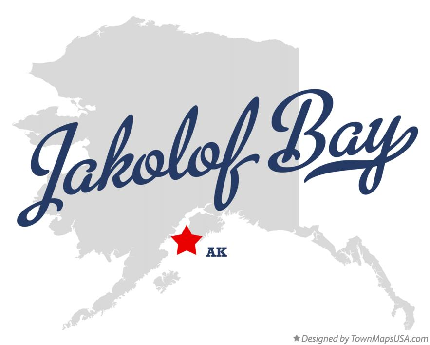 Map of Jakolof Bay Alaska AK