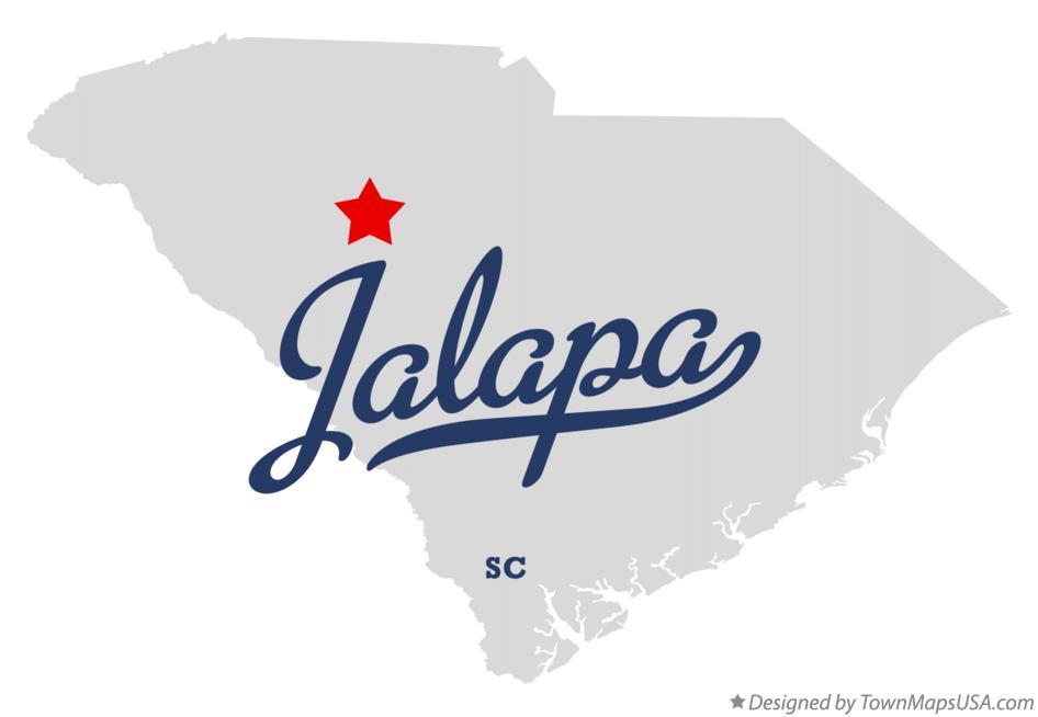 Map of Jalapa SC South Carolina