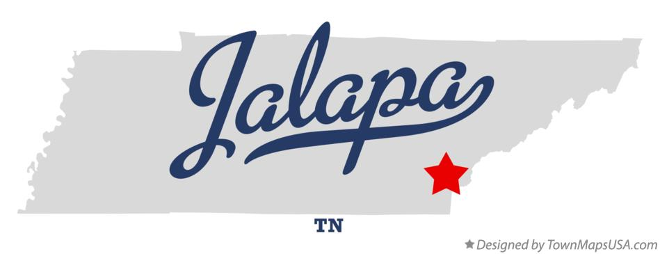Map of Jalapa Tennessee TN