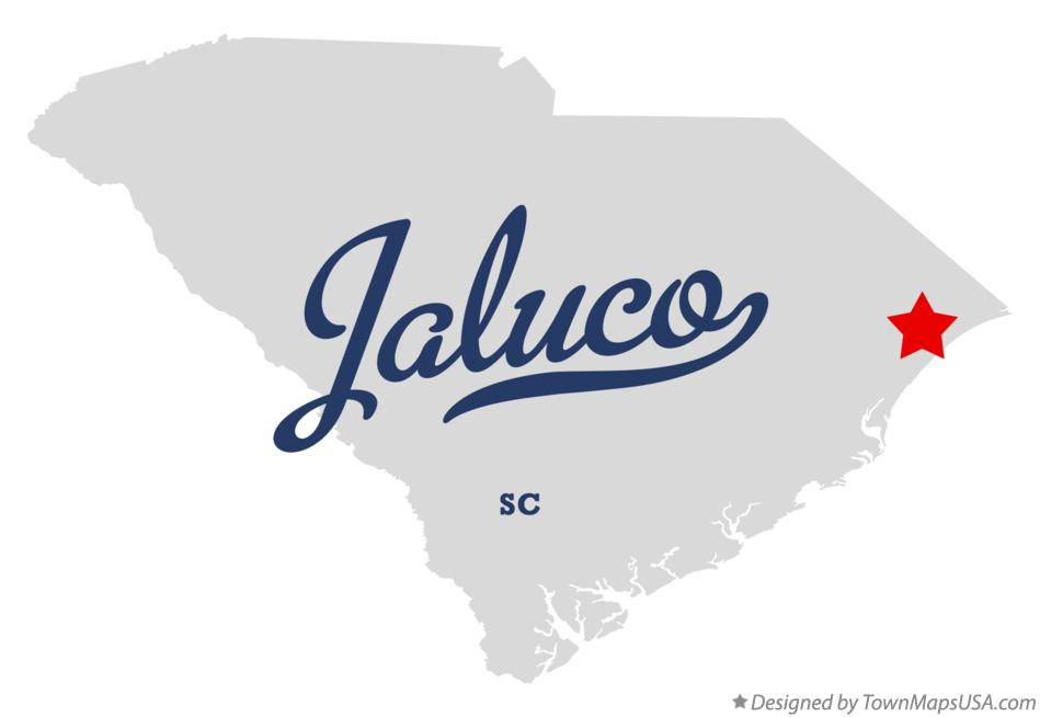Map of Jaluco South Carolina SC