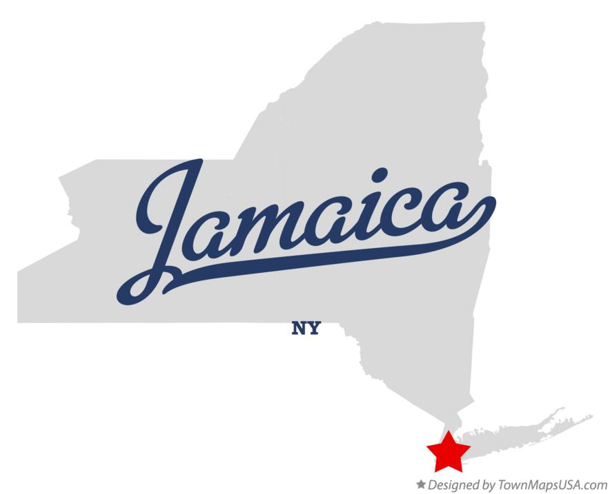 Map of Jamaica New York NY