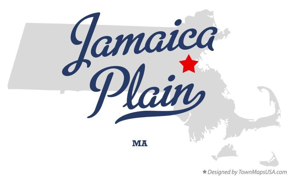 Map of Jamaica Plain MA Massachusetts