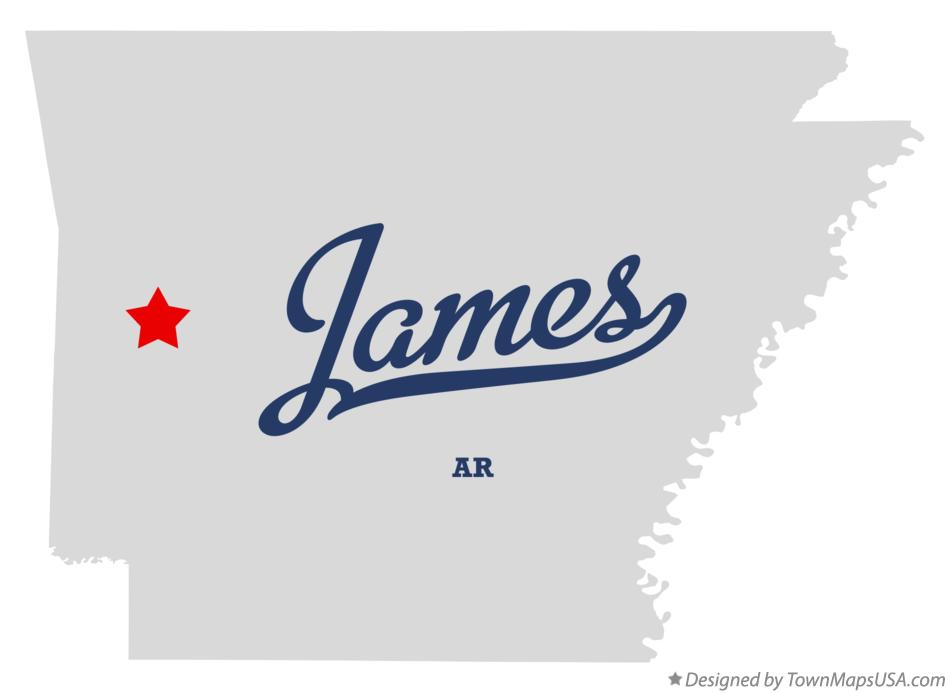 Map of James Arkansas AR