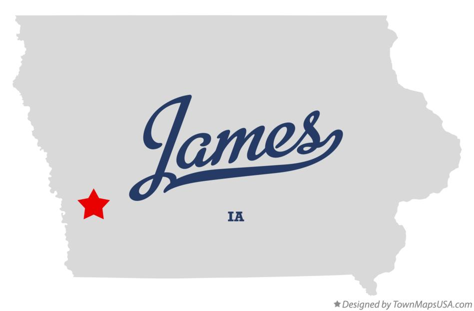 Map of James Iowa IA