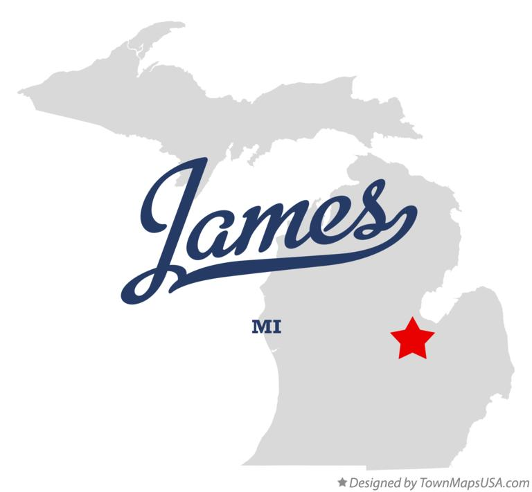 Map of James Michigan MI