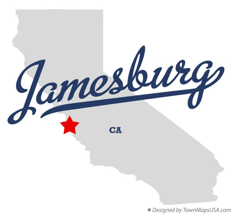Map of Jamesburg California CA