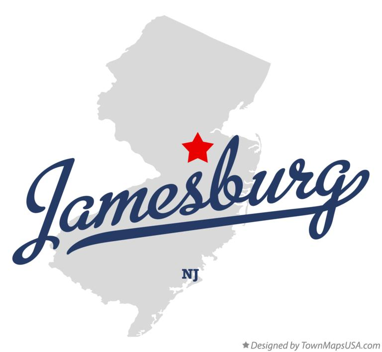 Map of Jamesburg New Jersey NJ