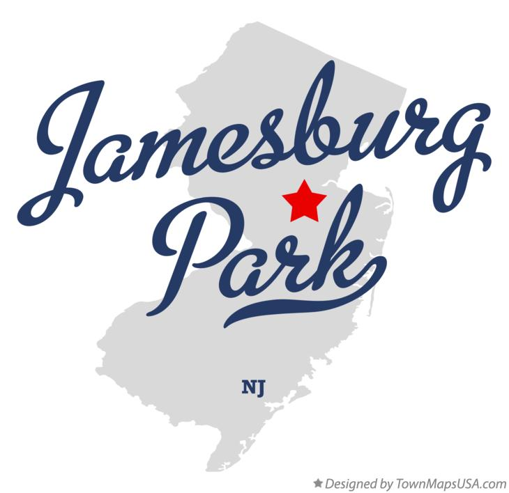 Map of Jamesburg Park New Jersey NJ