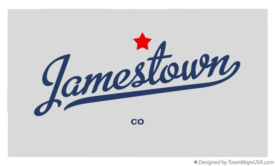Map of Jamestown Colorado CO