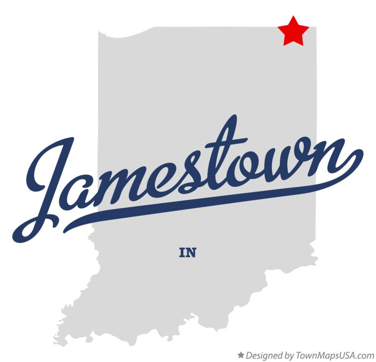 Map of Jamestown Indiana IN