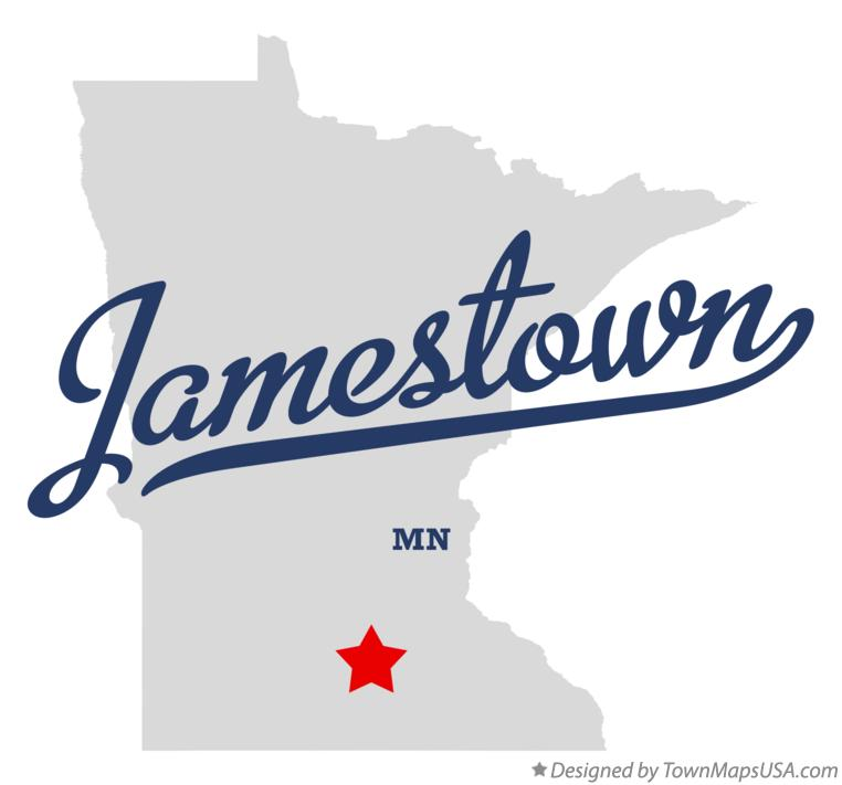 Map of Jamestown Minnesota MN